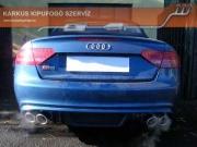 Audi A5 2.0 TFSi S5 replika, dupla csöves sportkipufogó hang