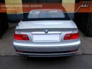 BMW E46 320i dupla csöves hátsó sportkipufogó, szolíd hangzással
