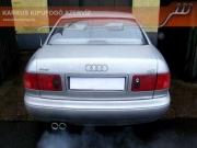 Audi A8 4.2 V8 nyitott, X-s kipufogó rendszer hang