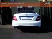 Mercedes W204 1.6 turbo sportkipufogó hang